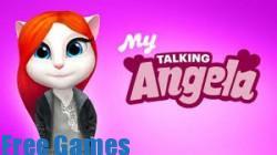 لعبة القطة انجيلا والمتكلمة للاندرويد كاملة