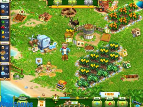 تحميل لعبة المزرعة السعيدة للكمبيوتر Exotic Farm pc مجانا